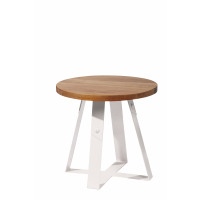 RACA - sidetable - wood/metal - white - 48x48x45cm