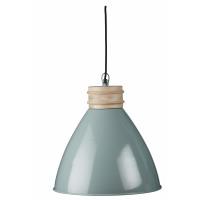 BETTY - hanglamp - metaal/ hout - lichtgroen - Ø38x40cm