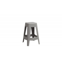 ORSO - bar stool - plastic - grey - 44x44x68,5cm