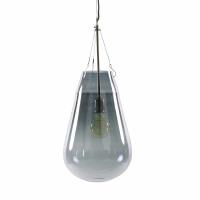 BULLIA - hanglamp - geblazen glas / metaal - DIA 30 x H 69 cm - smoke
