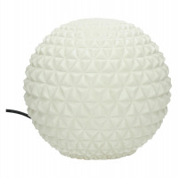 BE PURE - boule lumineuse - composite de sable - DIA 25 x H 25 cm - blanc