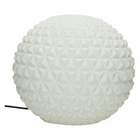 BE PURE - boule lumineuse - composite de sable - DIA 42 x H 42 cm - blanc