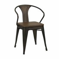 TILO - stoel - metaal / bamboe - L 49,5 x W 51 x H 80 cm