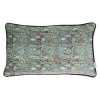 LORENZO - cushion - velvet - shell print - green/purple - 30x50cm