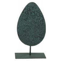 AUTUMN - deco leaf - metal - antique - M - 9x14x25cm