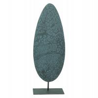 AUTUMN - déco feuille - métal - antique - GM - 9x14x41cm