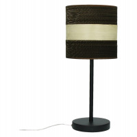 PIANA - lampe de table E27 - métal - bois - carton - Ø20x46 cm