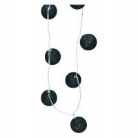 FAIRY - guirlande - tissu - L 210 cm - noir