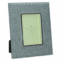 ZUANI - Photo frame - grey fabric - metal - 10 x 15 cm