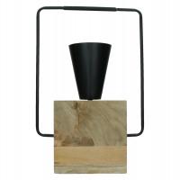 RIGGIO - lampe de table - bois de mangier / métal - L 29 x W 12 x H 47,5 cm - noir