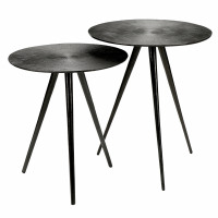 GERARD - set/2 side tables - aluminium - DIA 41/46 x H 43/52 cm