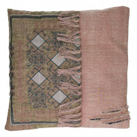 DARHAN - coussin - coton stone washed/ brodé - 45x45cm