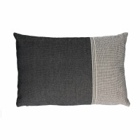 PABLITO - kussen - katoen/ chambray - zwart - 40x60cm