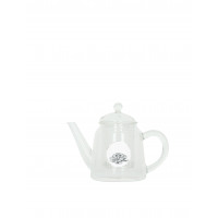 HAPPINESS - teapot - glass - white cloud - 21x11,5x14,5cm