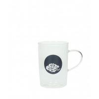 HAPPINESS - tea glass - glass - dark blue cloud - DIA 8x11,5cm