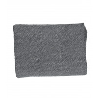 SIMPLICITY - throw - 100% washed cotton - black - 130x170 cm