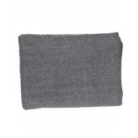 SIMPLICITY - plaid - 100% washed katoen - zwart - 130x170 cm