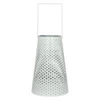 AOMORI - Lanterne - métal pérforé - blanc - M - Ø 13,50-20xh32 cm