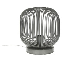 TAMA - Table lamp - iron wire - pewter - S - Ø24 x 28 cm