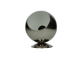ZAROLHO - lampe - boule - fer - nickel brillant extérieur/ blanc mat intérieur - DIA 15 x H 18cm