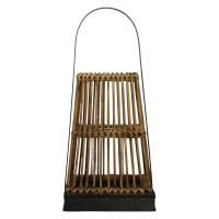 PUQI - lanterne - bambou/contreplaqué/métal - naturel - S - 22x22xh50 cm