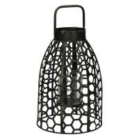 SAMURAI - lanterne - fer / verre - DIA 21,5 x H 39,5 cm - étain