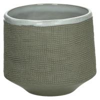 TENDO - bloempot - aardewerk - naturel - M - Ø12xh10