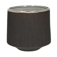 TENDO - bloempot - aardewerk - fumé - XL - Ø17,5xh16,5