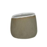 TENDO - bloempot - aardewerk - naturel - M - Ø13,5xh11