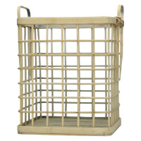 HANDA - set of 3 baskets - bamboo - L 29/35/40 x W 27/33/39 x H 34/40/46 cm  - natural