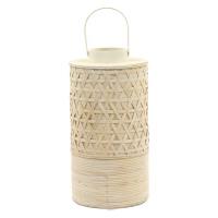 YAKUSI - lanterne - bambou - naturel/ écru - M - 25x25x47cm