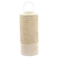 YAKUSI - lanterne - bambou - naturel/ écru - L - 29x29x66cm