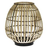 TESAKI - lanterne - bambou - naturel/ noir - S - 11x11x13,5cm