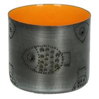 TIGELA - bol - métal/émail - orange - poisson - S - Ø8xh7,5cm