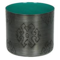 TIGELA - bol - métal/émail - pétrol - poisson - S - Ø8xh7,5cm