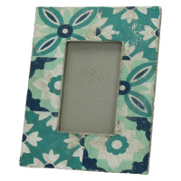 CUENCA - photo frame - ceramics - turquoise - L - 20x25x1,9 cm