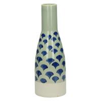 DOMBURG - vase - céramique - bleu - S - Ø9,5xh27 cm
