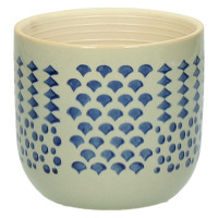 DOMBURG - flower pot - ceramics - blue - S - Ø11,5xh10,5 cm