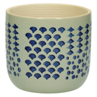DOMBURG - flower pot - ceramics - blue - M - Ø15xh13,5 cm