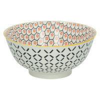 KASHGAR - bowl L  - porcelain - orange - D18x8