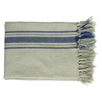 FARNIENTE - throw - 100% cotton - ocean blue - 130x170 cm