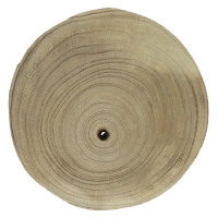PURE - assiette - paulownia hout - DIA 20 x H 3 cm