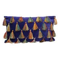 CIRQUE - deco cushion - velvet 100% cotton - purple - 50x30 cm