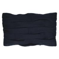 AKEMI - deco cushion - recycled wool - navy blue - 30x50 cm