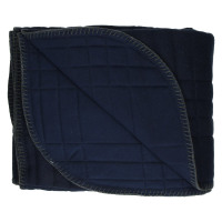 AKIHIKO - throw - wool/jersey - navy blue/grey - 130x170 cm