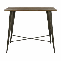TILO - bar table - metal / bamboo - L 120 x W 60 x H 105 cm