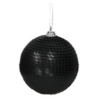 DISCO - x-mass ball - synthetics - DIA 8 cm - black