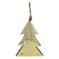 CRAFT - kersthanger - hout - L 7 x W 1 x H 11,5 cm - naturel