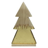 CRAFT - x-mass hanger - wood - L 17,5 x W 5 x H 31 cm - natural
