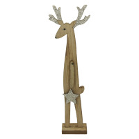 RUDOLF - hout - L 10,5 x W 5 x H 35 cm